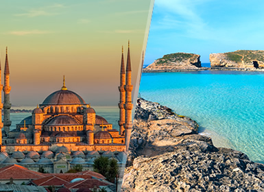 Turquie et Malte: Istanbul et Malte en avion