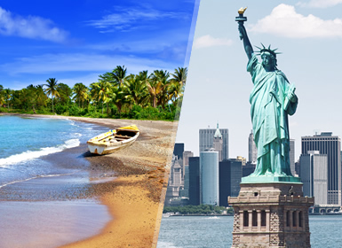 États-Unis et La Jamaïque: New York et Montego Bay