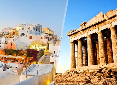 Grèce: Athènes et Santorini en avion