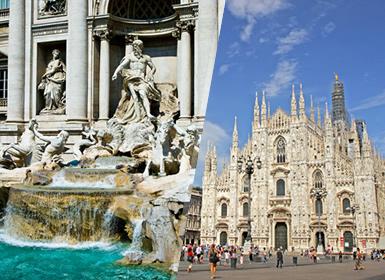 Italia: Rome et Milan en avion