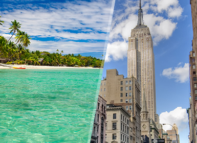 États-Unis et Fidji: New York et Viti Levu