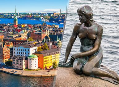 Europe du Nord: Stockholm et Copenhague en avion