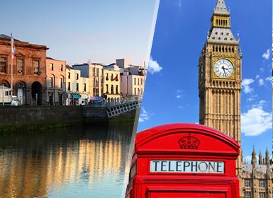 Iles Britanniques: Londres et Dublin en avion