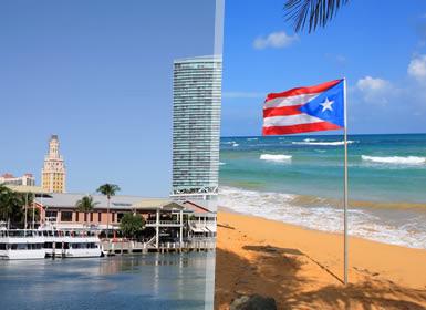 États-Unis et Porto Rico: Miami et San Juan