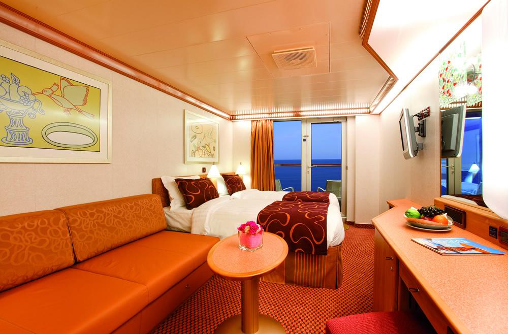 Cat gories et cabines du bateau costa pacifica costa for Costa pacifica ponti