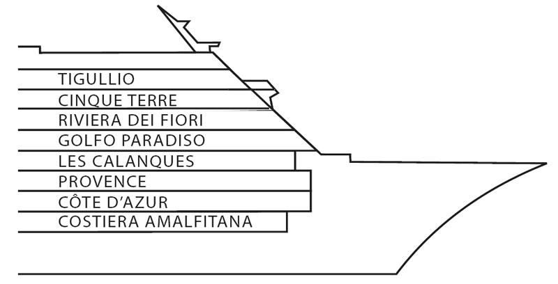 Pont 10 riviera dei fiori du bateau costa neoriviera for Costa pacifica piano nave