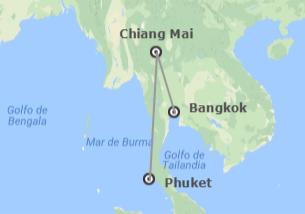 Thaïlande: Bangkok, Chiang Mai et Phuket