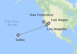 États-Unis: Las Vegas, San Francisco, Los Angeles et Honolulu