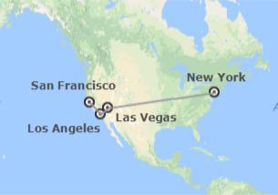 États-Unis: New York, Las Vegas, Los Angeles et San Francisco