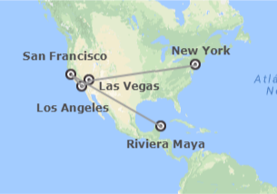 États-Unis et Mexique: New York, Las Vegas, Los Angeles, San Francisco et Riviera Maya