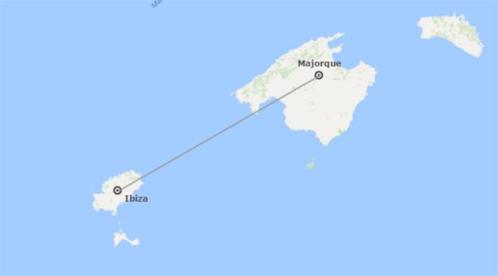 Espagne: Majorque et l'Ibiza en avion
