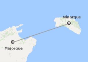 Espagne: Majorque et Minorque en avion