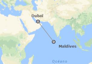 Émirats et les Îles de l´Océan Indien: Dubaï et Maldives