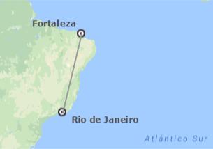 Brésil: Rio de Janeiro et Fortaleza