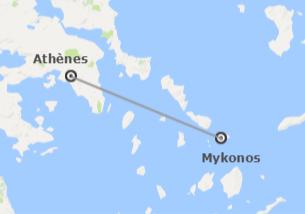 Grèce: Athènes et Mykonos en avion