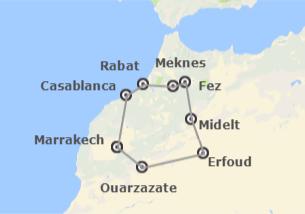 Maroc: Le Maroc et le Moyen Atlas