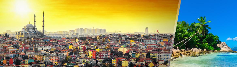 Turquie et Îles de l'Océan Indien: Istanbul et les Seychelles, séjour à la plage à votre guise