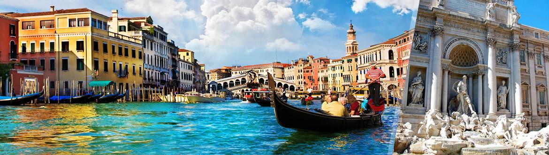 Italie: Rome et Venise en avion, les nuits à votre guise