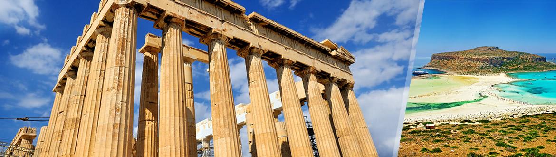 Grèce: Athènes et la Crète en avion, sur mesure, avec séjour à la plage