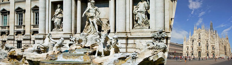 Italie: Rome et Milan en avion, les nuits à votre guise