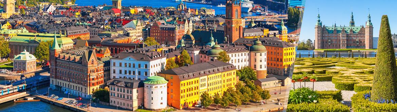 Europe du Nord: Stockholm et Copenhague en avion, les nuits à votre guise