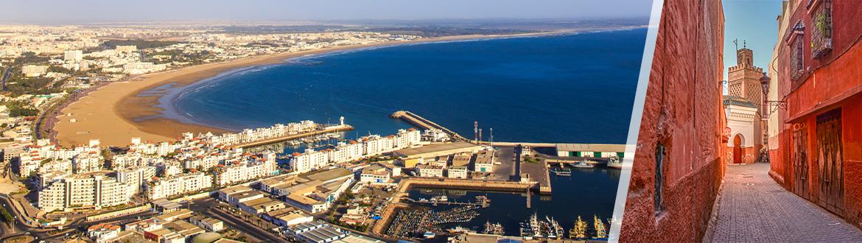 Maroc: Marrakech et Agadir, séjour à la plage à votre guise