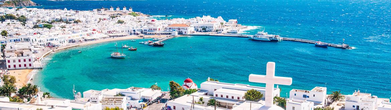 Grèce: Athènes, Péloponnèse et Mykonos, circuit avec séjour à la plage