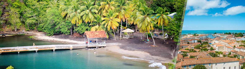Les Antilles Françaises: La Martinique et Saint Martin, séjour à la plage à votre guise