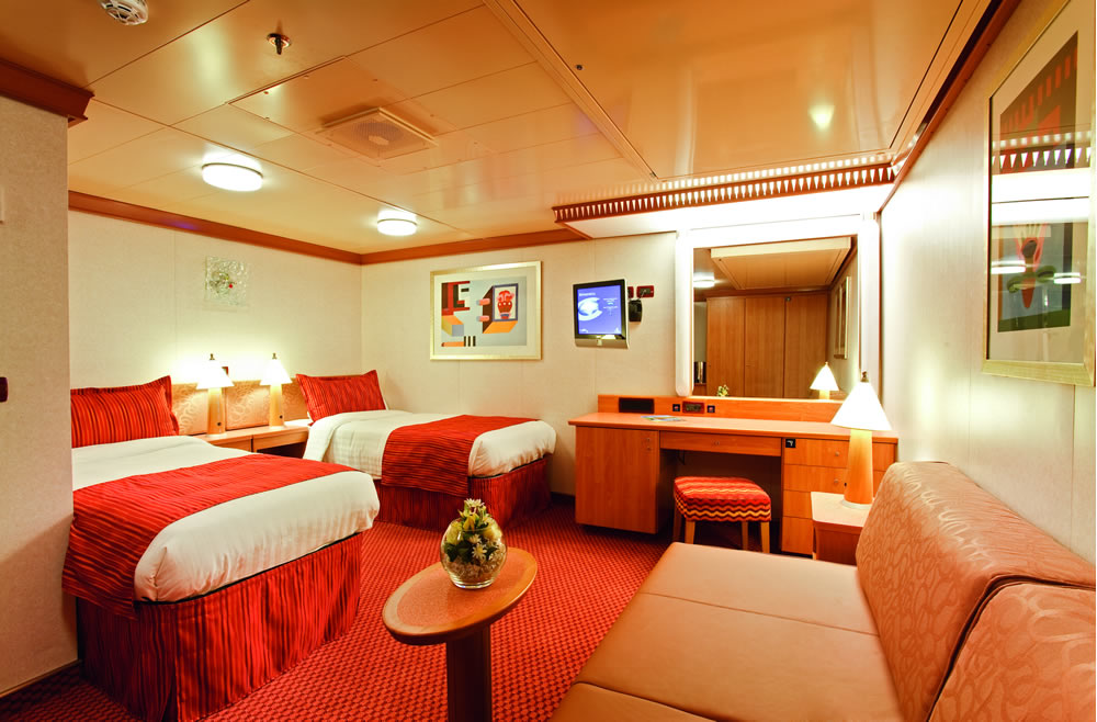 Cat gories et cabines du bateau costa luminosa costa for Chambre quadruple costa magica