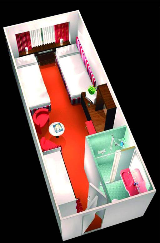 cat gories et cabines du bateau horizon pullmantur. Black Bedroom Furniture Sets. Home Design Ideas