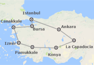 Turquie: Istanbul, Ankara, Cappadoce, Pamukkale, Izmir et Canakkale