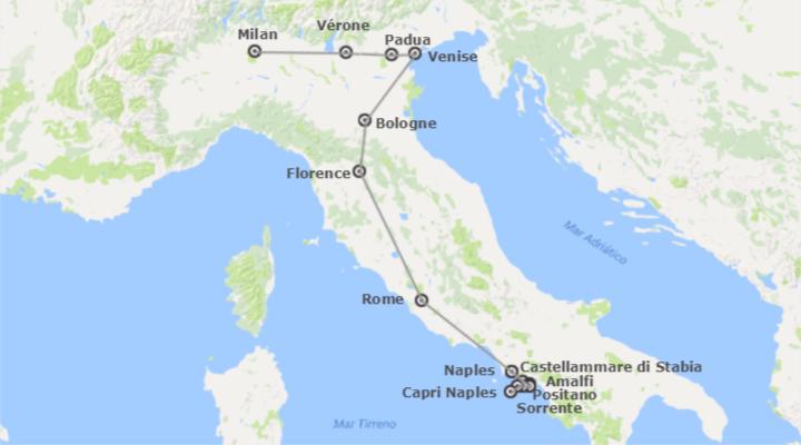 italie route travers la grande italie de milan naples sur mesure en voiture logitravel. Black Bedroom Furniture Sets. Home Design Ideas