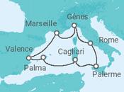 Itinéraire -  Belle Méditerranée - MSC Croisières