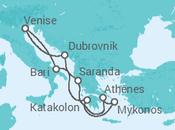 Itinéraire -  Adriatique et Iles Grecques - MSC Croisières