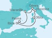 Itinéraire -  Baléares, Sardaigne et Toscane - MSC Croisières