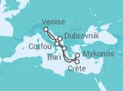 Itinéraire -  Charmes de l'Adriatique - MSC Croisières