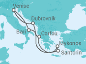 Itinéraire -  Italie, Grèce, Croatie - Costa Croisières