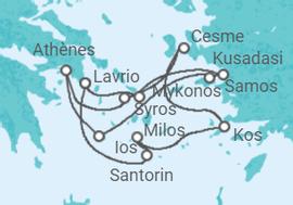 Itinéraire -  Égée Idyllique - Celestyal Cruises