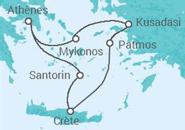 Itinéraire -  Égée Iconique + Athènes - Celestyal Cruises