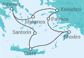 Itinéraire -  Égée Iconique - 5 jours - Celestyal Cruises