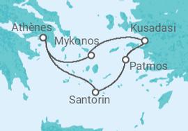 Itinéraire -  Grèce, Turquie - Celestyal Cruises